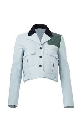 Blue Patch Mini Jacket by Carven