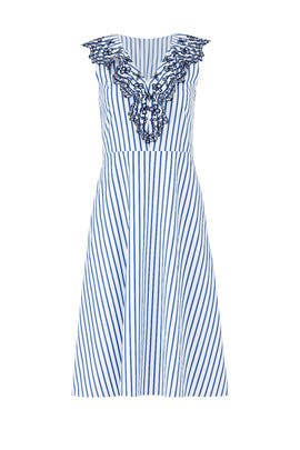 Stripe Ruffle Eyelet Dress by Draper James