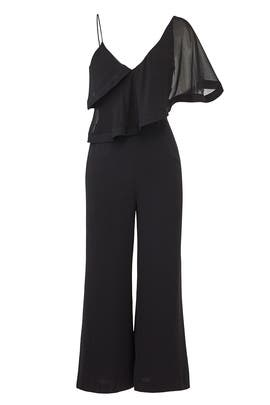 Black No Love Jumpsuit by Keepsake