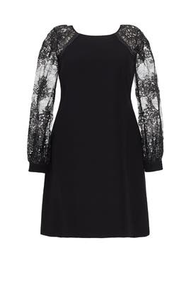 Black Crepe Dress by Kay Unger