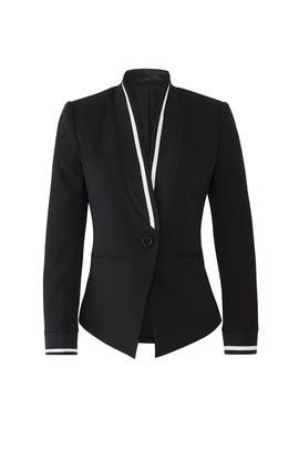 Trimmed Black Blazer by Slate & Willow