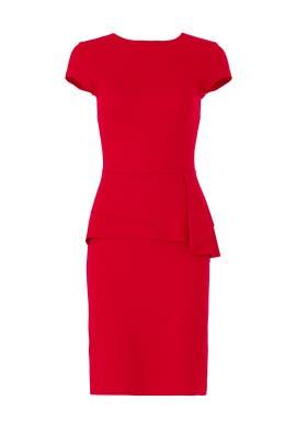 Red Peplum Sheath by Slate & Willow