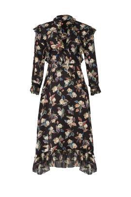 Black Midnight Flower Dress by Vilshenko