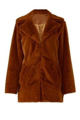 Pumpkin Spice Faux Fur Coat by MINKPINK