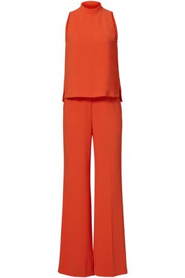 Orange Marisa Jumpsuit by Trina Turk