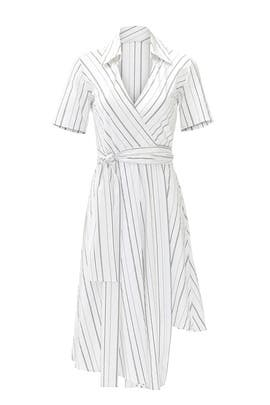 White Stripe Vivien Dress by Alexis