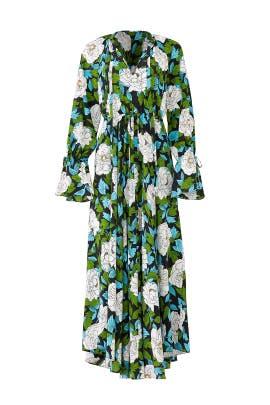 Floral Cinch Sleeve Maxi by Diane von Furstenberg