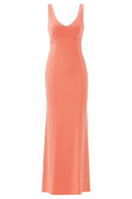 Coral Crepe Gown by Laundry by Shelli Segal