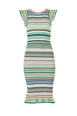 Rainbow Striped Sheath by Milly