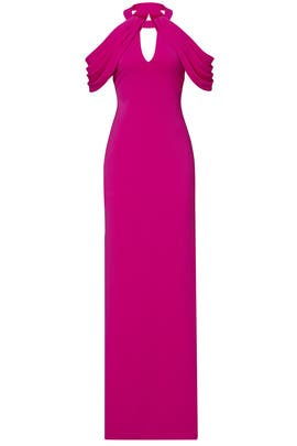 Magenta Draped Gown by Badgley Mischka