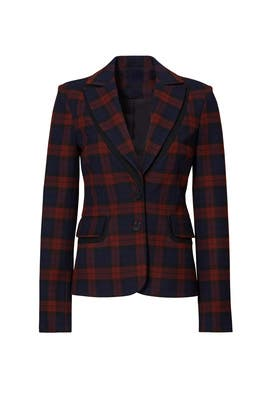 Plaid Blazer by 10 CROSBY DEREK LAM