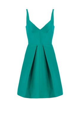Emerald Sweetheart Dress by Halston Heritage