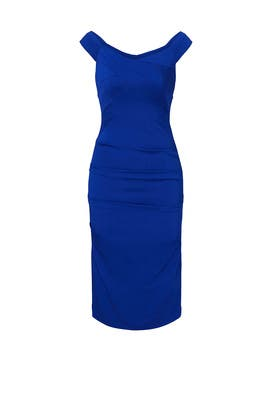 Cobalt Curve Dress by Nicole Miller