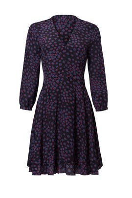 Purple Floral Print Dress by Rebecca Taylor