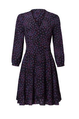Purple Floral Print Dress by Rebecca Taylor