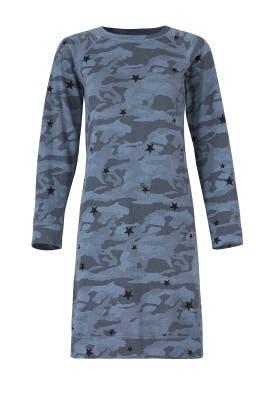 Blue Camo Sweatshirt Dress by MONROW