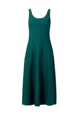 Dark Green Monola Dress by Theory