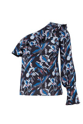 Blue Floral Orla Top by Tanya Taylor