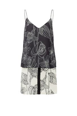 Black Flora Fauna Tank Dress by Corey