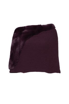 Burgundy Mix Fur Cape by LAFAYETTE 148 New York