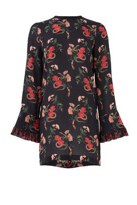 Black Floral Serpent Dress by Mother of Pearl