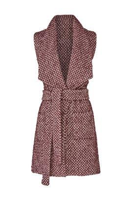 Merlot Tweed Vest by Paper Crown
