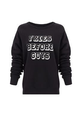 Black Graham Sweatshirt by Rebecca Minkoff