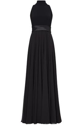 Black Cover of Darkness Gown by Theia