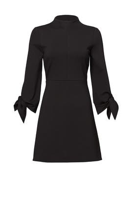 Black Bond Tie Sleeve Dress by Tibi