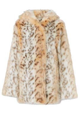 Faux Snow Leopard Coat by Avec Les Filles