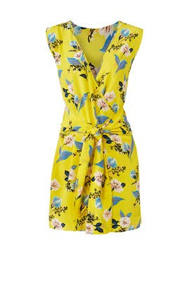 Yellow Floral Wrap Dress by Diane von Furstenberg
