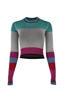 Cropped Plaited Pullover by Diane von Furstenberg