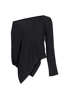 Black Single Sleeve Top by KAUFMANFRANCO