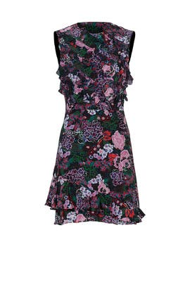 Pink Abstract Floral Dress by SALONI