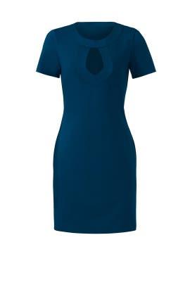 Teal Keyhole Dress by Trina Turk