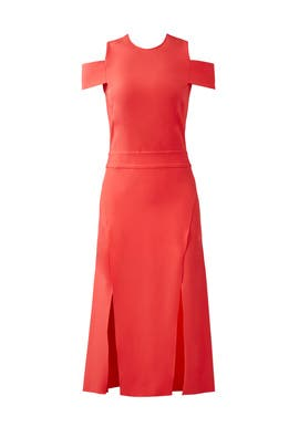 Poppy Cold Shoulder Dress by Halston Heritage
