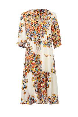 Geo Print Arabella Dress by Tory Burch