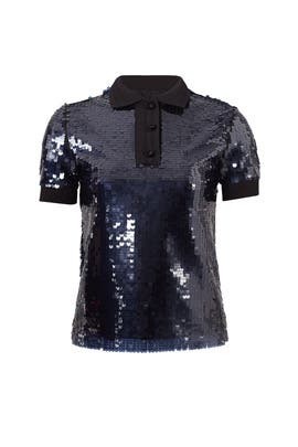 Sequin Polo Top by Carven