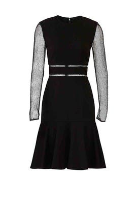 Black Mesh Panels Dress by Jason Wu