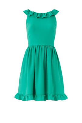 Beryl Green Ruffle Dress by kate spade new york