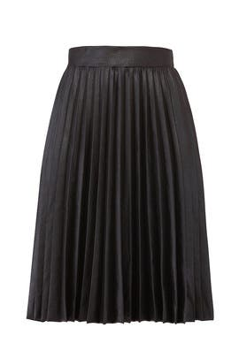 Black Pleated Skirt by LOST INK