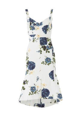 Denim Rose Flare Dress by Nicholas