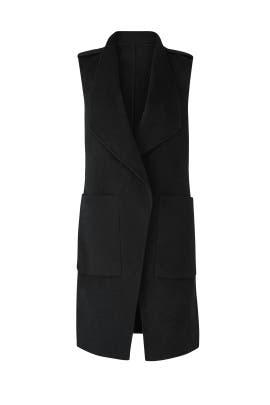 Black Linn Wool Vest by SOIA & KYO