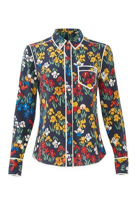 Floral Brigette Shirt by Tory Burch