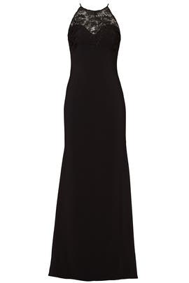 Black Lace Tyler Gown by Badgley Mischka