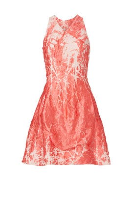 Coral Metallic Dress by Josie Natori