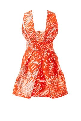 Scribble Print Cross Back Dress by Milly