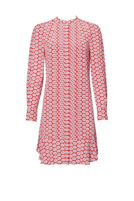 Printed Nantucket Red Dress by Tory Burch