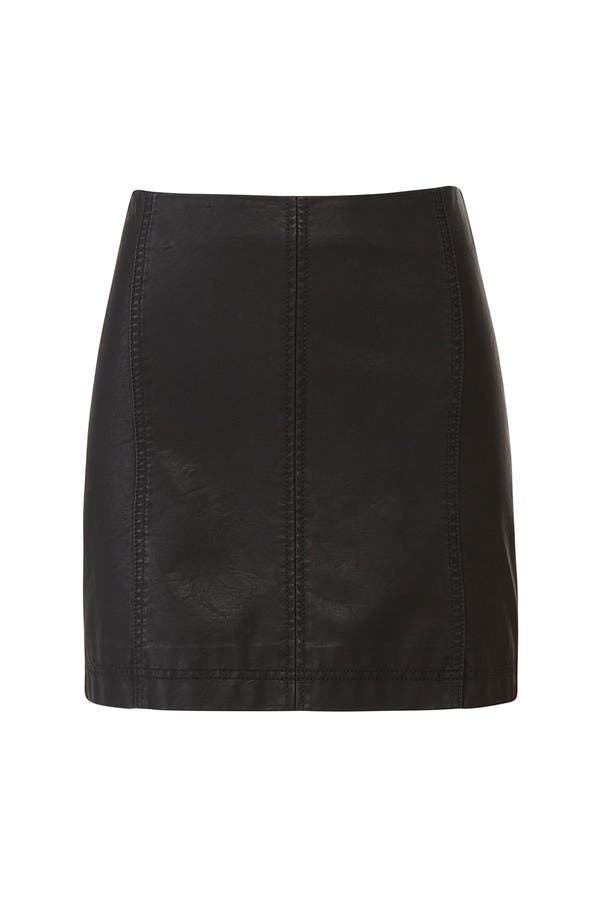 72e13afb59 Modern Femme Vegan Leather Skirt by Free People for $30 - $40 | Rent the  Runway