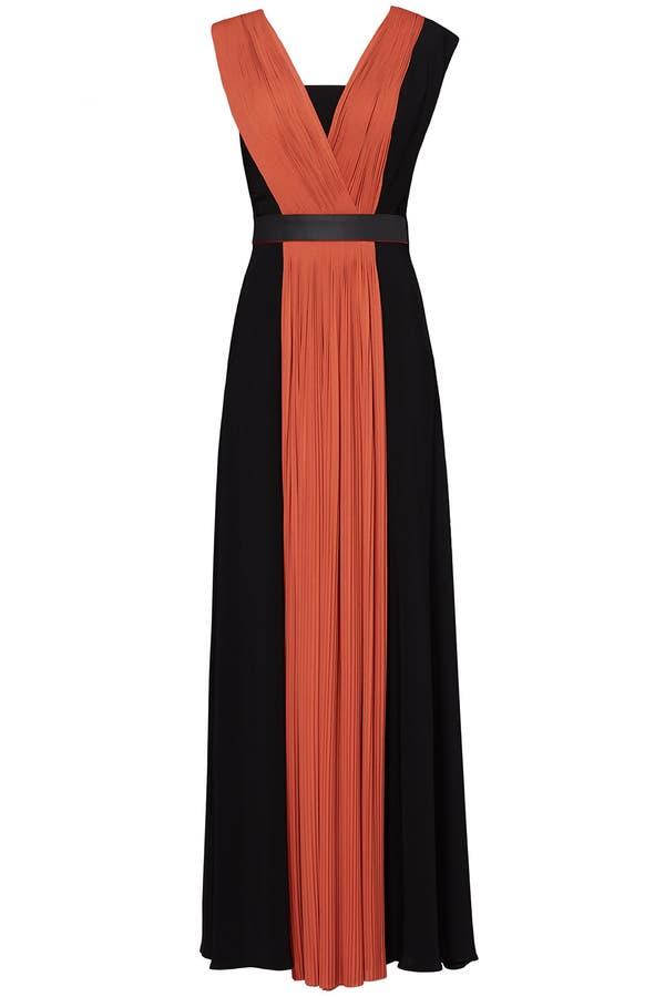 Femme Vionnet Robe Satin De Soie Imprimé Noir Taille 40 Vionnet hRHs5Xb